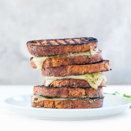 Mint Pesto Grilled Cheese on the Grill | A Couple Cooks