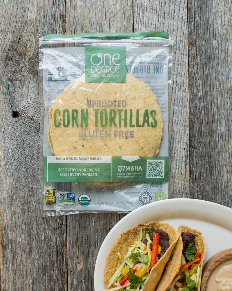 Refried Bean Tacos with Chipotle Cashew Cream | A Couple Cooks