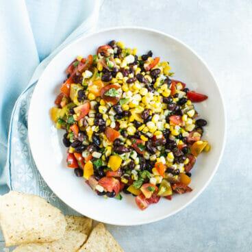 Black Bean & Corn Salsa Fresca | A Couple Cooks