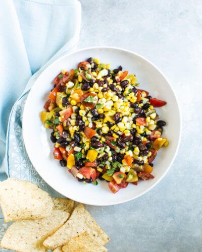 Black Bean & Corn Salsa Fresca | A Couple Cooks