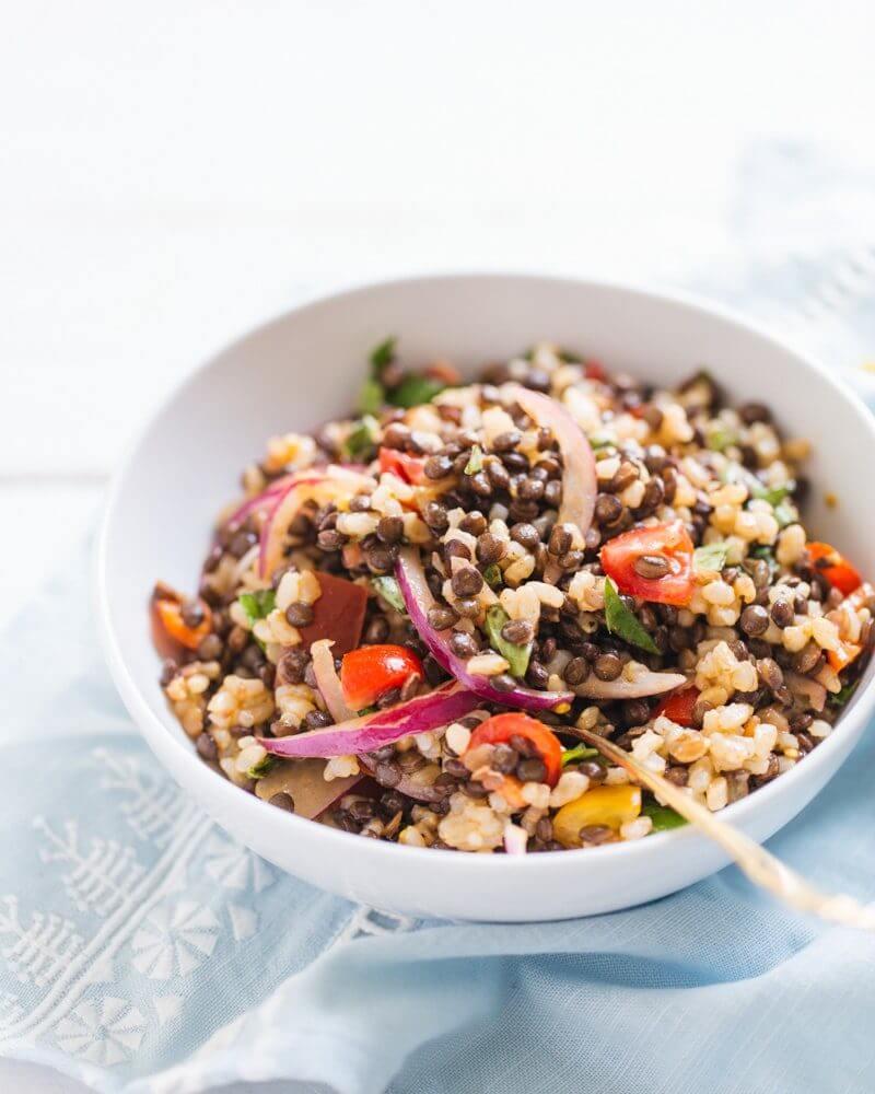 Lentil and Rice Summer Salad | Best lentil recipes