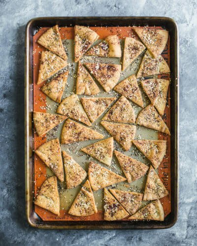 Homemade Za'atar Pita Chips | A Couple Cooks