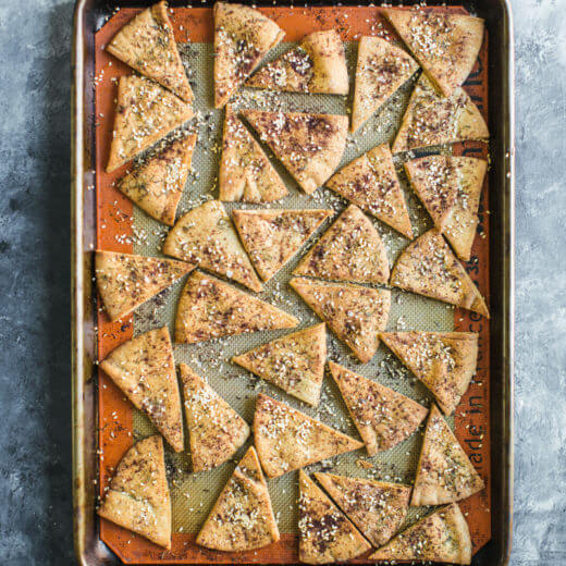 Homemade Za'atar Pita Chips | A Couple Cooks
