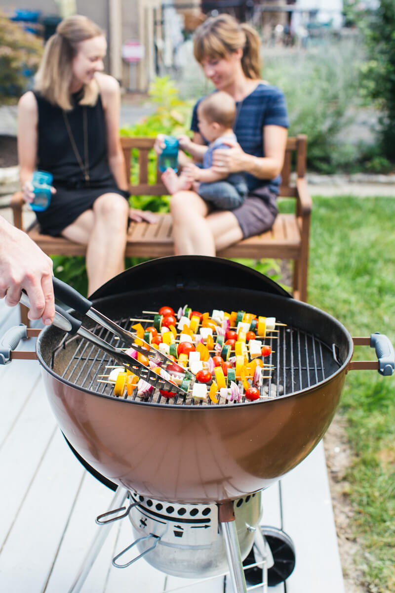 Greek Grilled Veggie Skewers & Summer Grilling   A Couple Cooks