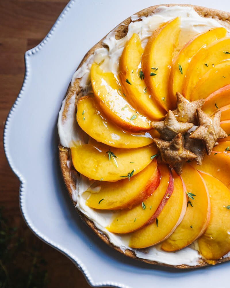Simple Peach Tart Recipe | Mascarpone dessert recipes