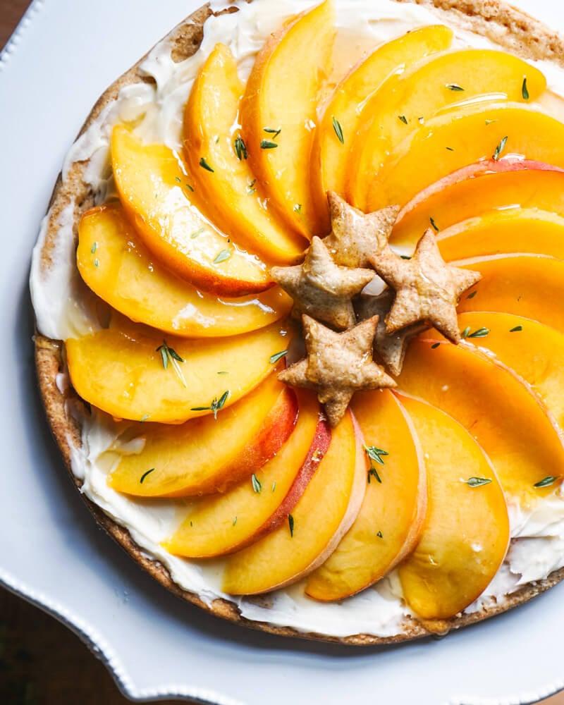 Peach Tart Recipe   Mascarpone Dessert Recipes