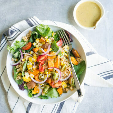 Southwestern Bowl with Green Chile Vinaigrette | A Couple Cooks