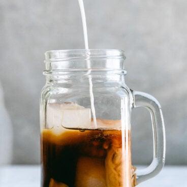 Pumpkin spice iced coffee