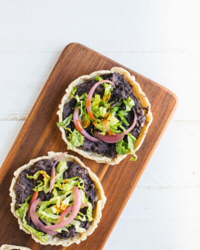 Homemade Sopes with Black Beans   A Couple Cooks