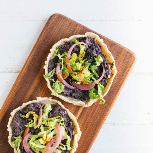 Homemade Sopes with Black Beans | A Couple Cooks
