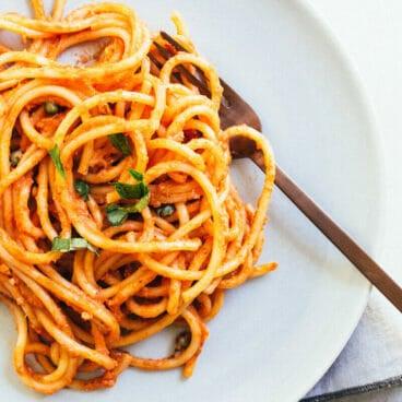 Creamy Vegan Pasta Marinara | A Couple Cooks