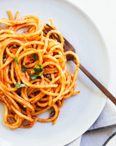 Creamy Vegan Pasta Marinara   A Couple Cooks