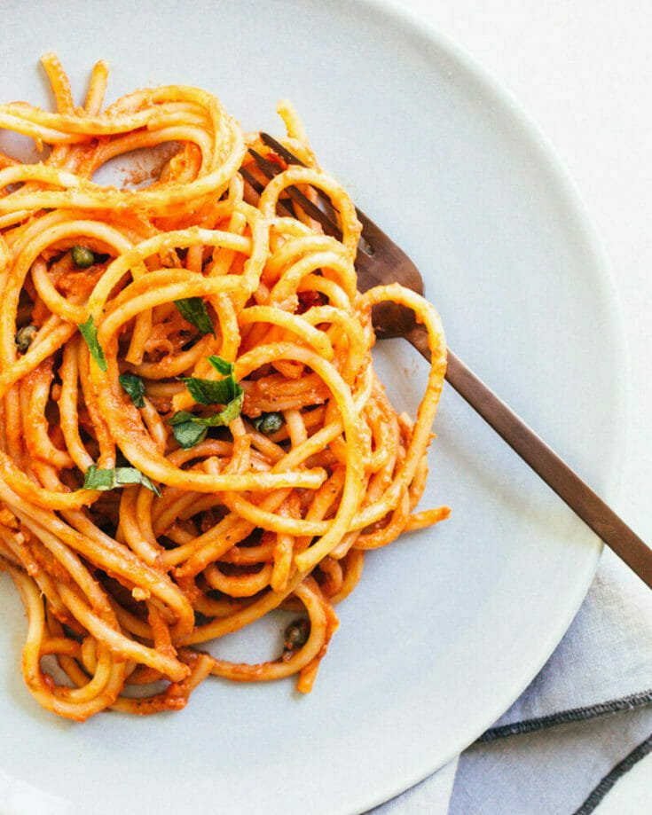 Vegan Spaghetti with Marinara Sauce