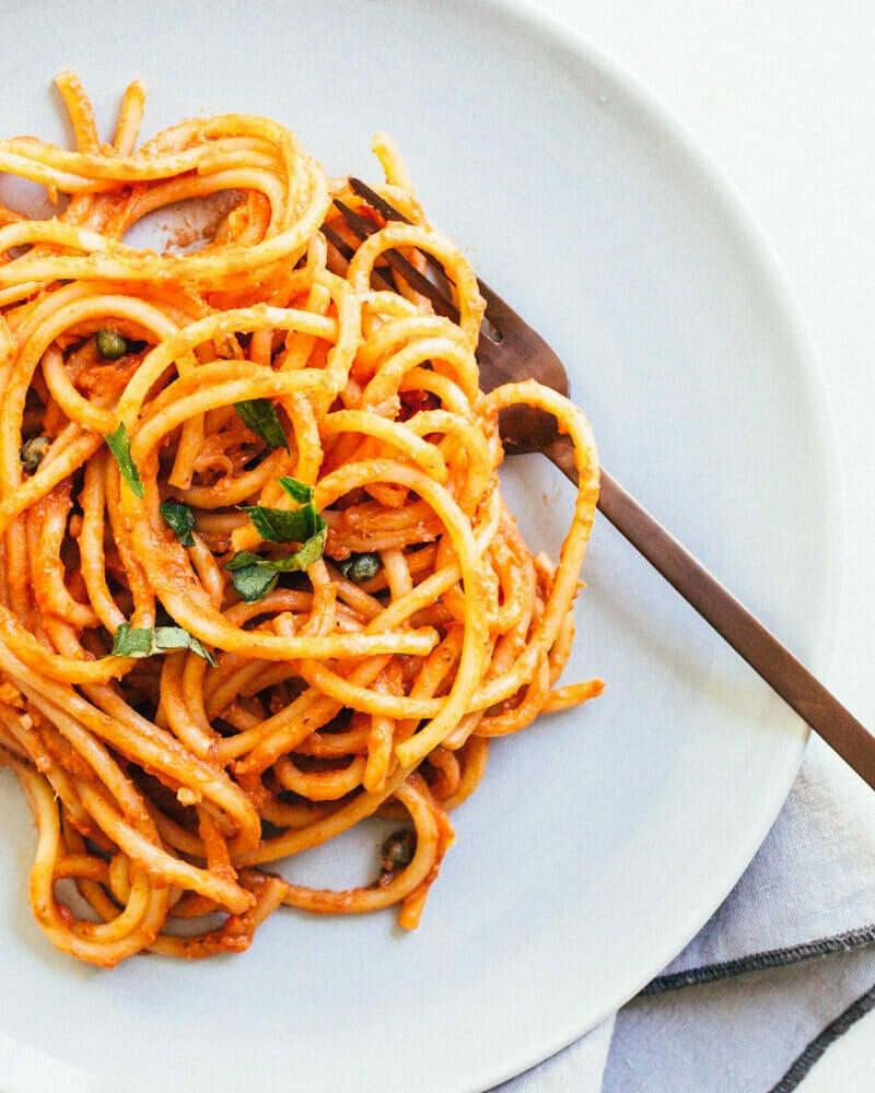 Vegan Spaghetti with Marinara Sauce