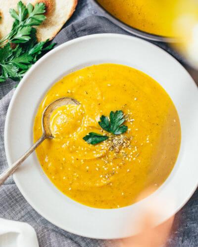 Za'atar-Spiced Butternut Squash Soup | A Couple Cooks
