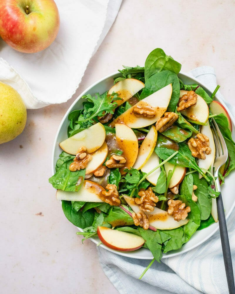 Best Spinach Apple Salad Easy Delicious A Couple Cooks