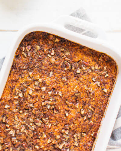 Carrot Cake Baked Steel Cut Oatmeal | A Couple Cooks