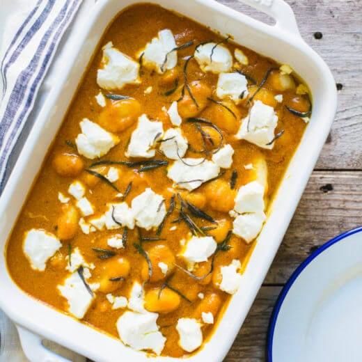 Pumpkin gnocchi bake   Healthy pumpkin recipes