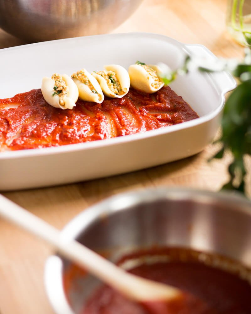 Pumpkin stuffed shells