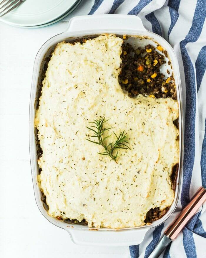 Vegetarian Shepherd's Pie with French Lentils | Best lentil recipes