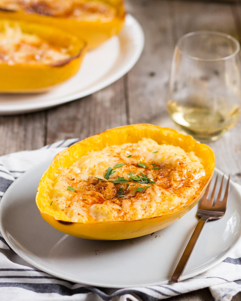 Spaghetti Squash Mac and Cheese | A Couple Cooks