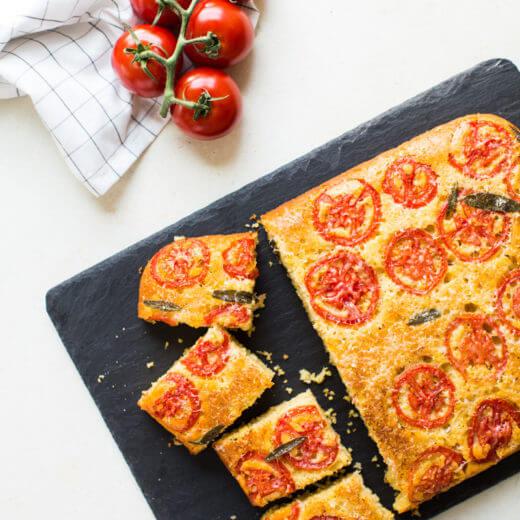 Tomato Sage Parmesan Cornbread | A Couple Cooks