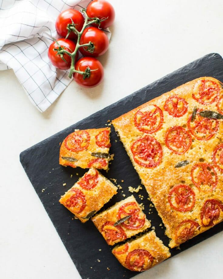 Tomato Sage Parmesan Cornbread