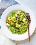 Pomegranate Shaved Brussels Sprouts Salad | A Couple Cooks