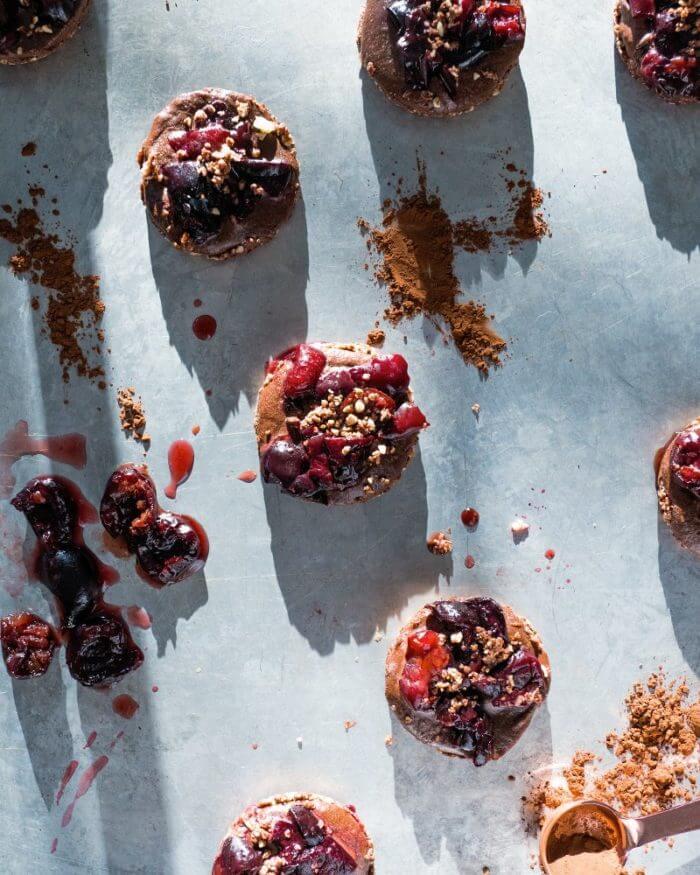 Chocolate Cherry Dessert Bites | Chocolate Cherry Tart