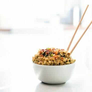 Veggie Packed Quinoa Fried Rice | A Couple Cooks