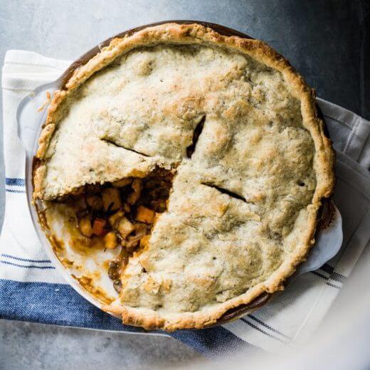 Vegan Pot Pie with Sage Crust | A Couple Cooks