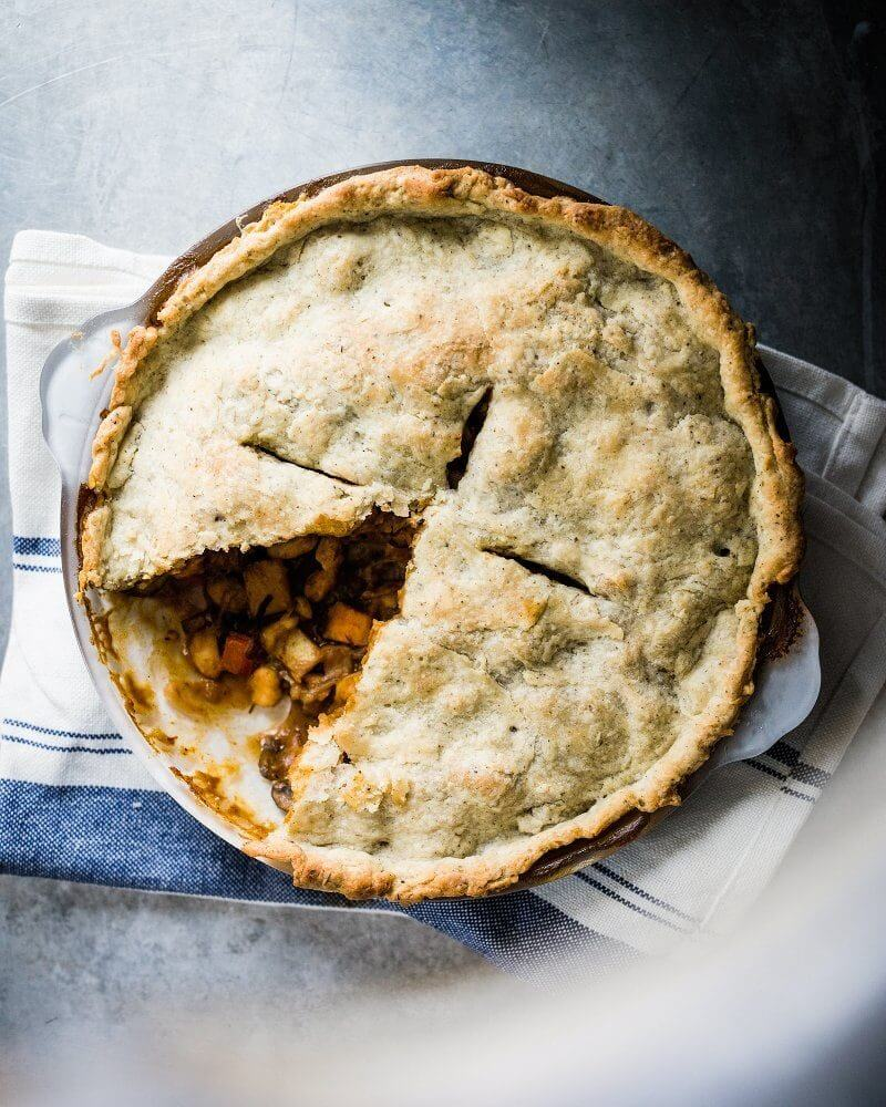 Vegan Pot Pie with Sage Crust   Easy Healthy Vegetable Recipes for Fall & Winter