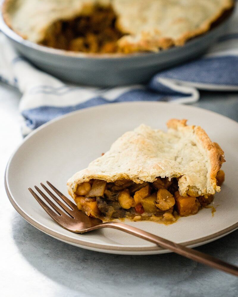 Savory Vegan Pot Pie with Sage Crust
