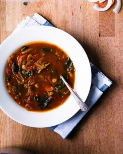 Tomato Sage Chickpea Soup | A Couple Cooks