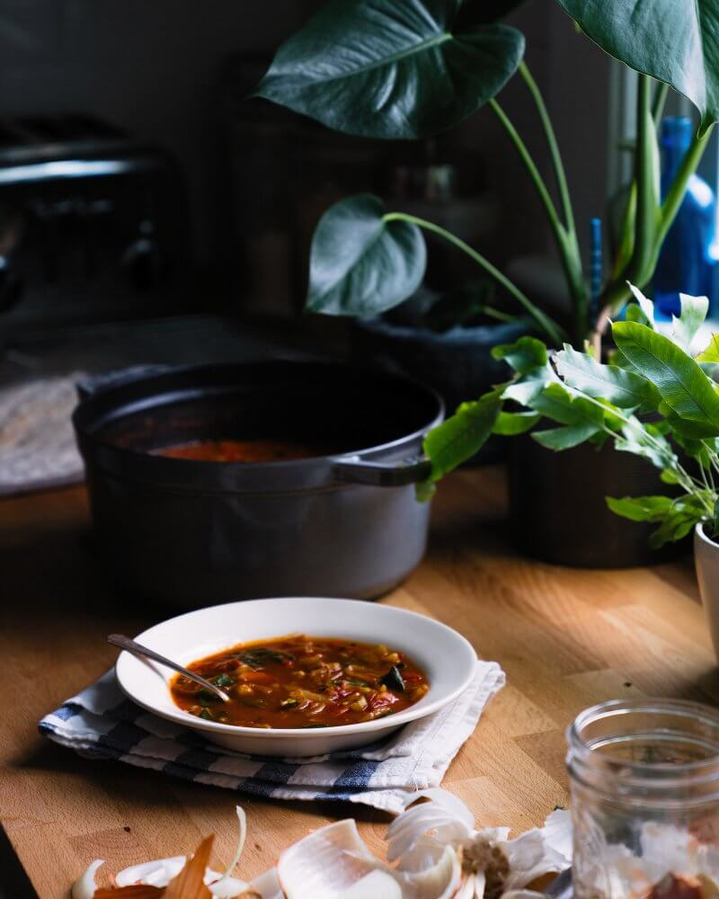 Tomato Sage Chickpea Soup | A Couple Cooks