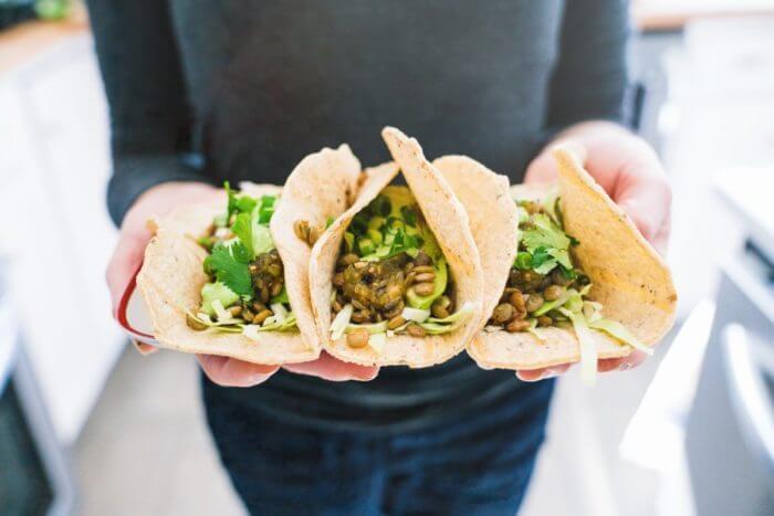 Easy vegan tacos | Lentil tacos