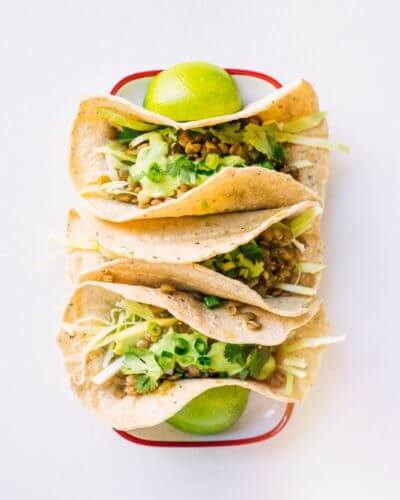 """Verde"" Lentil Vegan Tacos 