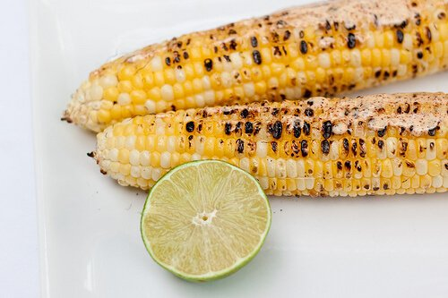 Mexican grilled corn with mayo