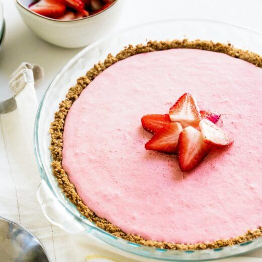 All Natural Strawberry Yogurt Pie | A Couple Cooks