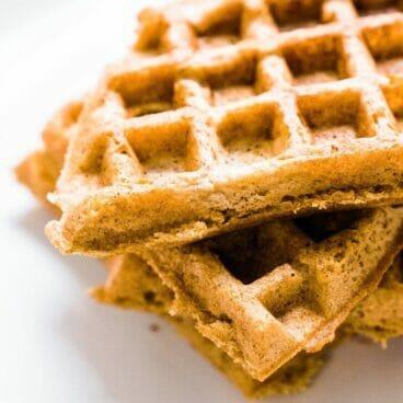 Fluffy Cinnamon Gluten-Free Waffles | A Couple Cooks