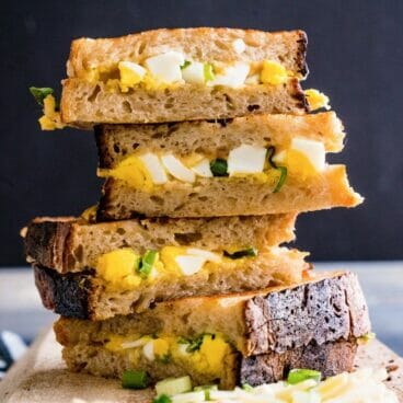 Hardboiled Egg & Smoked Cheddar Strangewich | A Couple Cooks