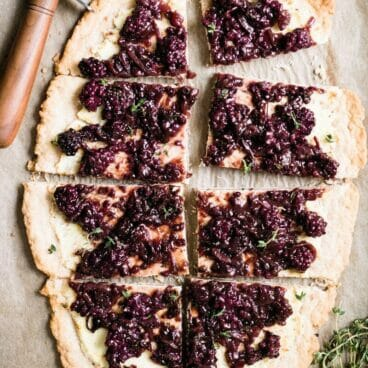 Blackberry, Ricotta & Onion Savory Tart | A Couple Cooks