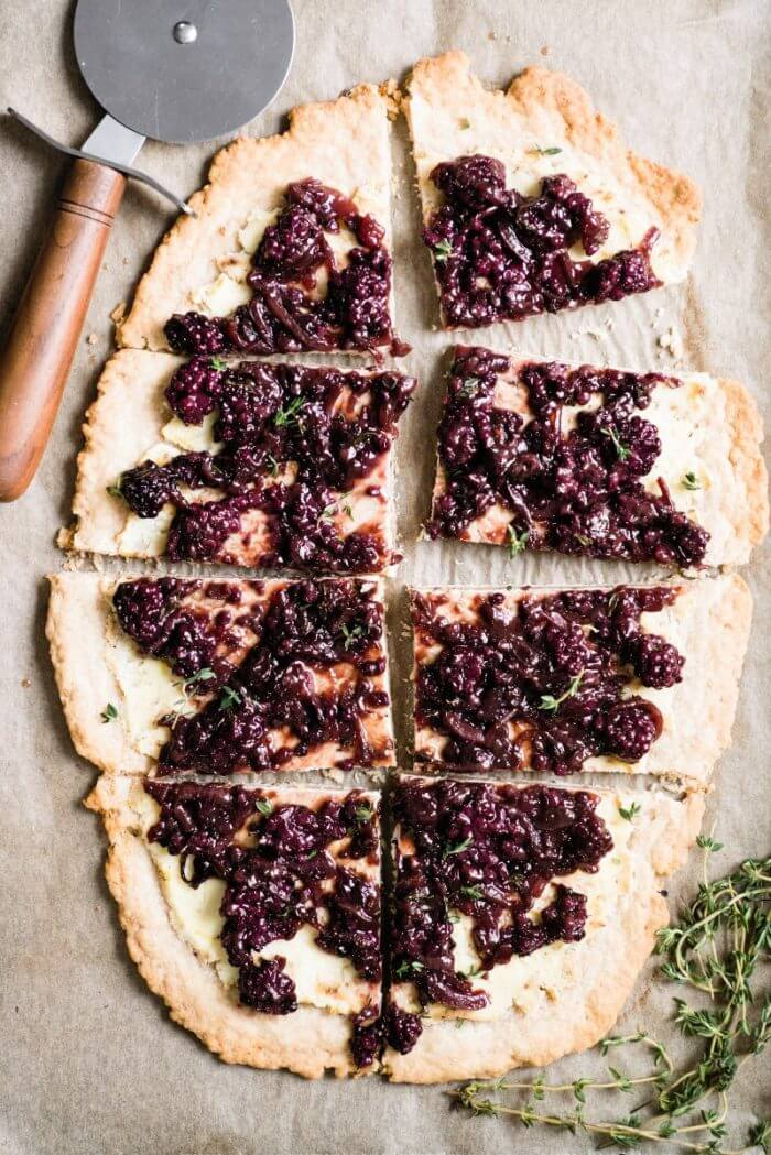 Blackberry, Ricotta & Onion Savory Tart
