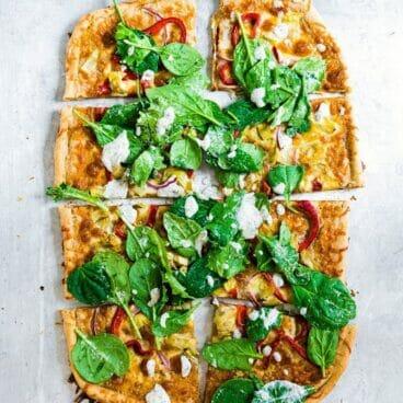 Yogurt Ranch Salad Pizza | A Couple Cooks