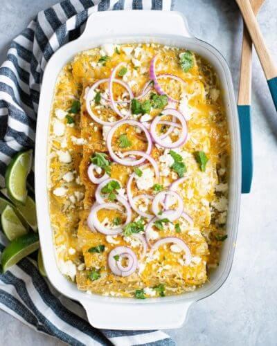 Artichoke & Quinoa Vegetarian Enchiladas | A Couple Cooks via Feast by Sarah Copeland