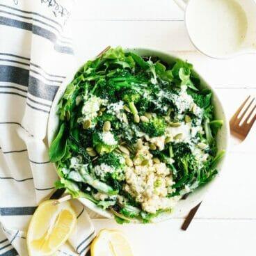 Go Green Bowl & Lemon Yogurt Sauce | A Couple Cooks