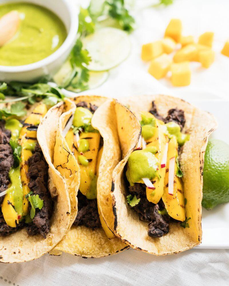 Grilled Mango Tacos with Dream Sauce | A Couple Cooks