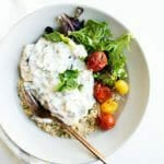 Grilled Eggplant Salad with Yogurt | A Couple Cooks