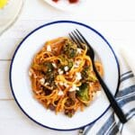Grilled Vegetable Pasta with Romesco   A Couple Cooks