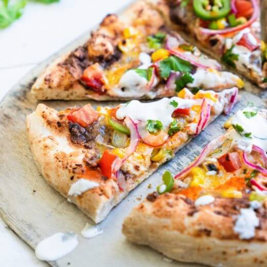 Loaded Mexican Pizza | A Couple Cooks